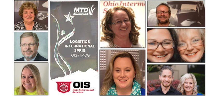 OIS Receives MTD Logistics International Sprig Award